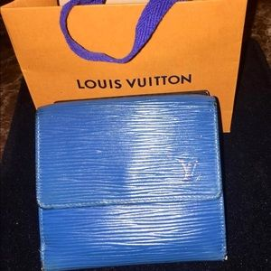 Auth Louis Vuitton Epi Wallet